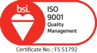 bsi ISO 9001 Quality Management logo